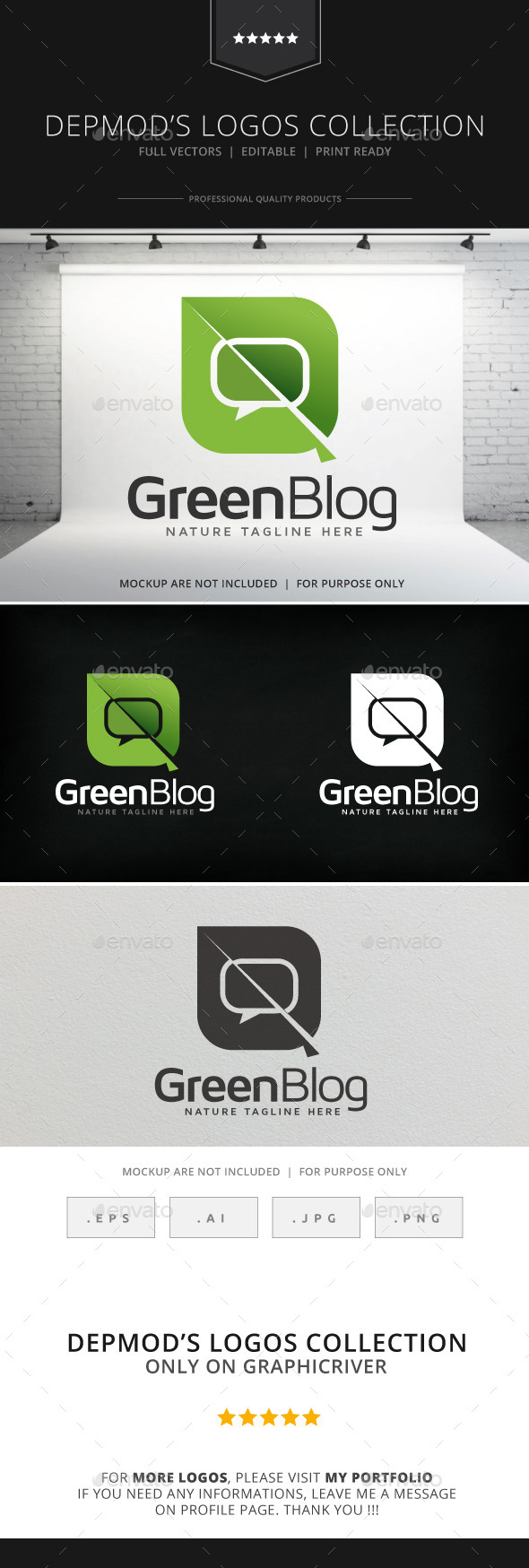 GraphicRiver Green Blog Logo 8980811