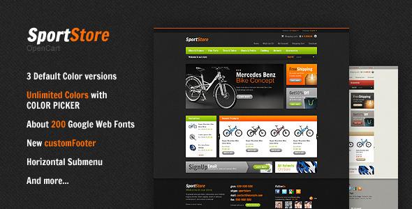 ThemeForest SportStore Premium OpenCart Theme 916755