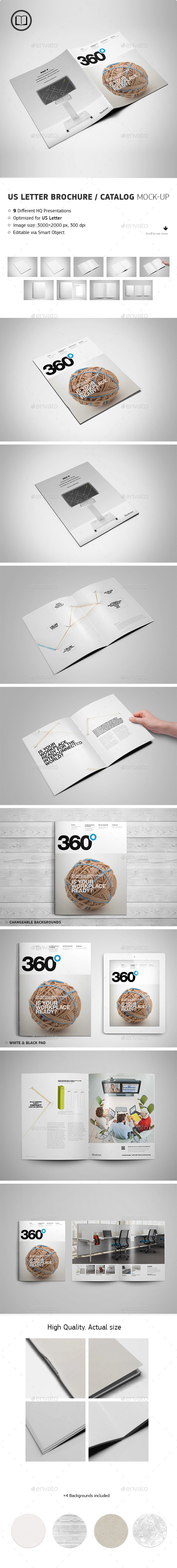 GraphicRiver US Letter Brochure Catalog Mock-Up 8980976