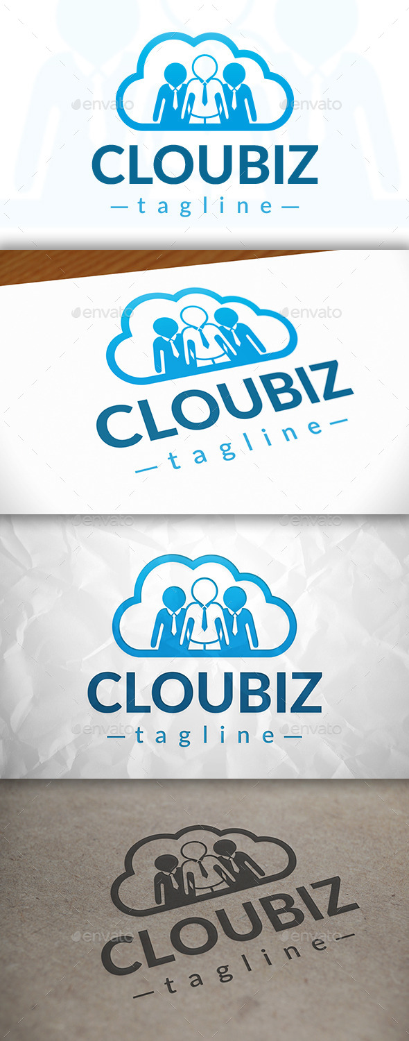 GraphicRiver Cloud Team Logo 8980977