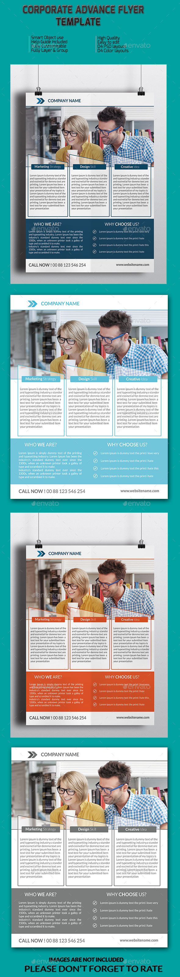 GraphicRiver Corporate Advance Flyer Template 8981101