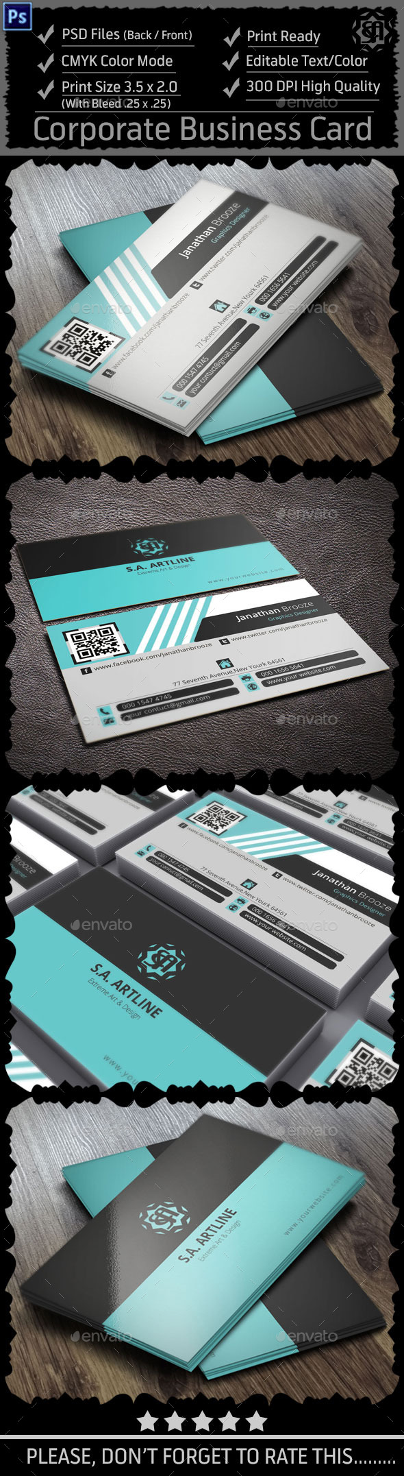 GraphicRiver Modern Corporate Business Card 8981414