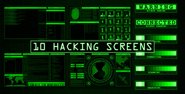 10 Hacking Screens