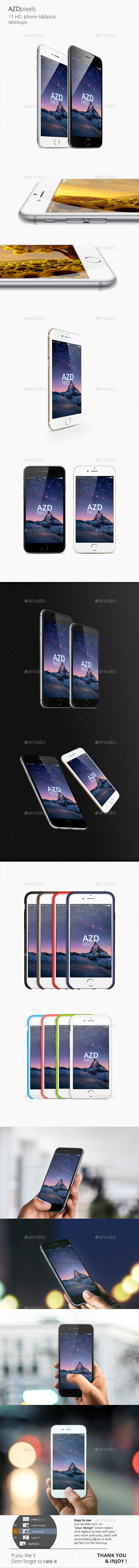 GraphicRiver 11 Phone 6 & 6plus Mockups 8894755