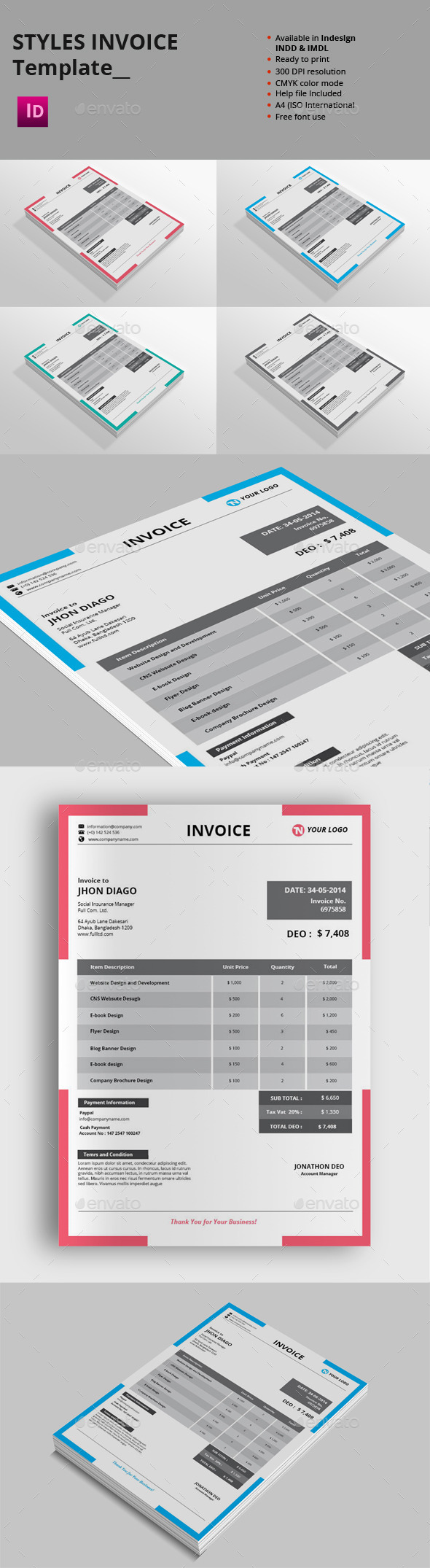 GraphicRiver Styles Invoice Templates 8981799