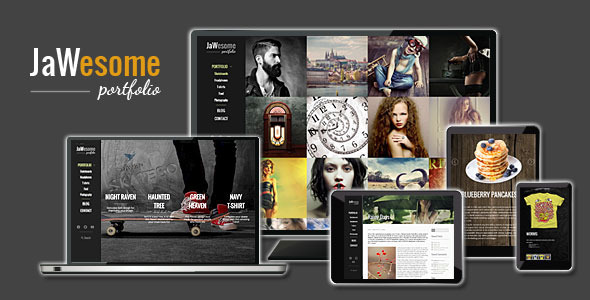ThemeForest JaWesome Creative WordPress Portfolio Theme 8981815
