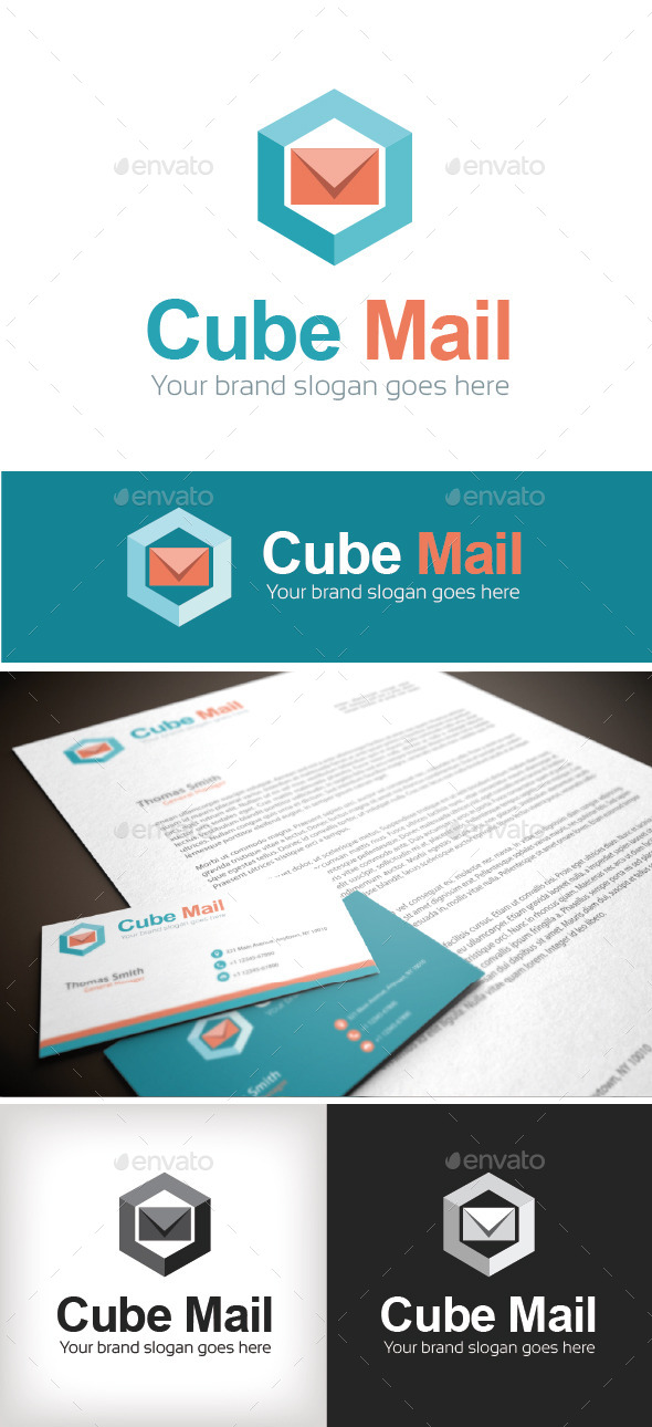 GraphicRiver Cube Mail Logo Template 8982030
