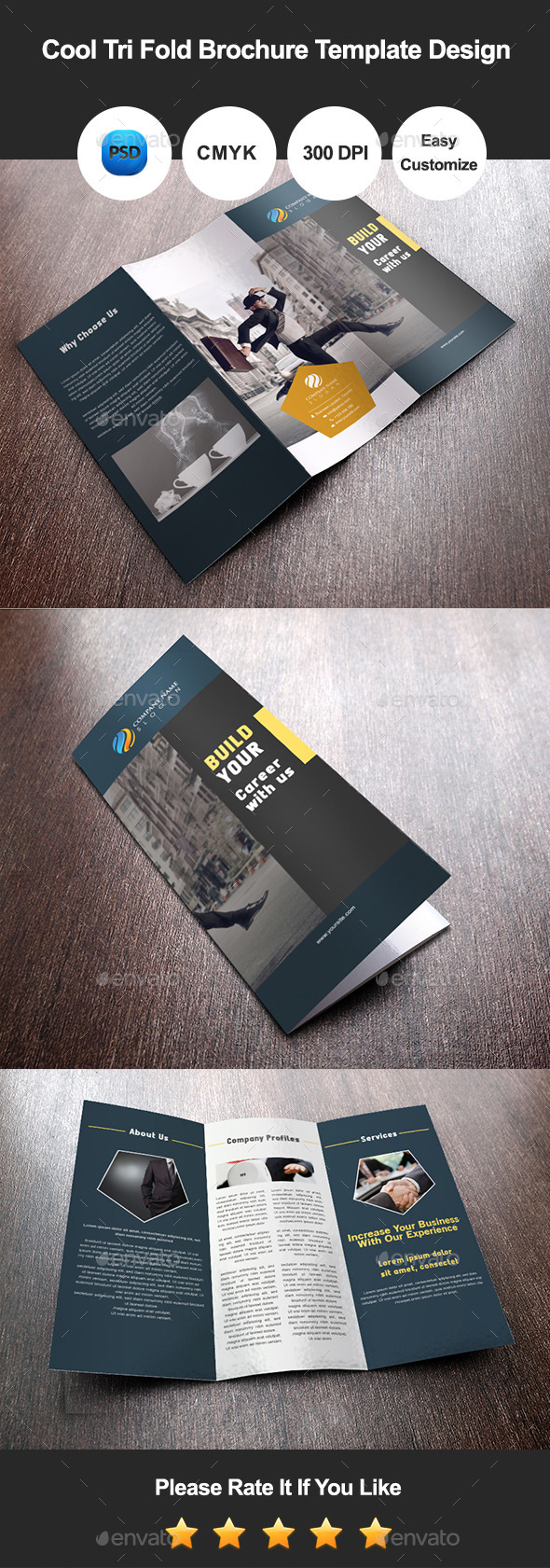 GraphicRiver Cool Tri Fold Brochure Template Design 8982054