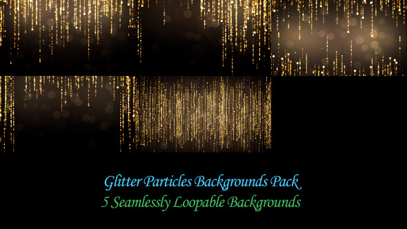 Glitter Particles Backgrounds Pack