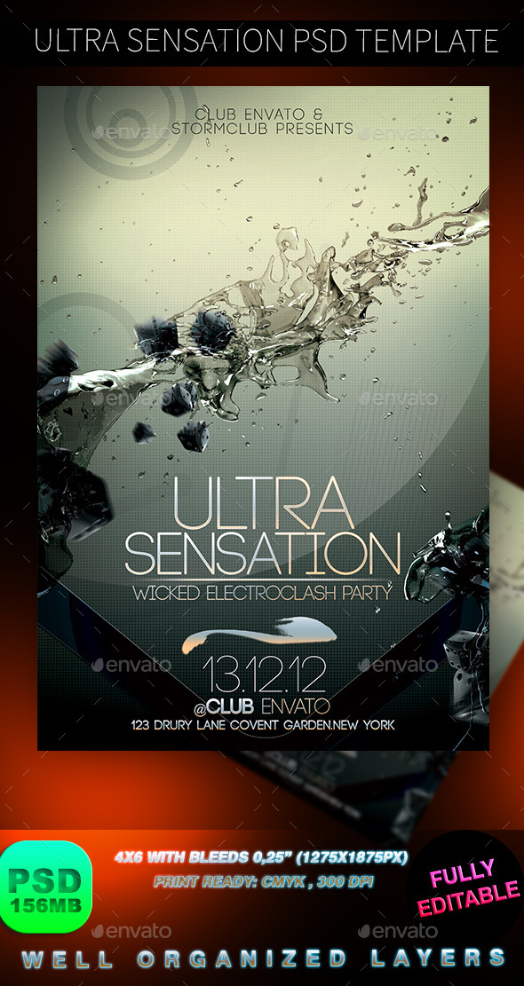 GraphicRiver Ultra Sensation PSD Template 8982191