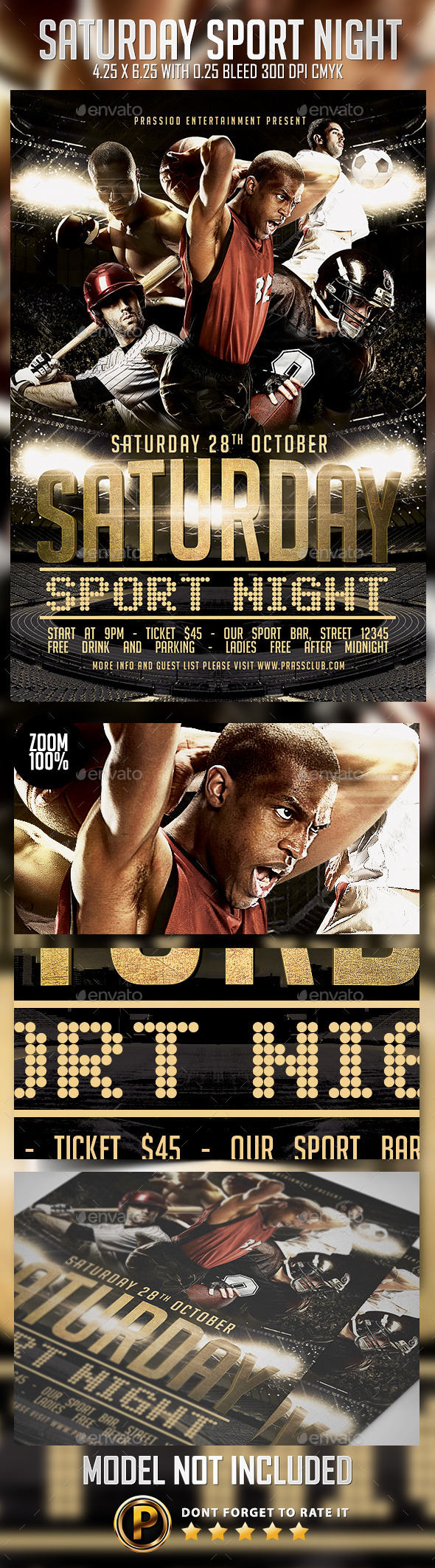 GraphicRiver Saturday Sport Night Flyer Template 8982220