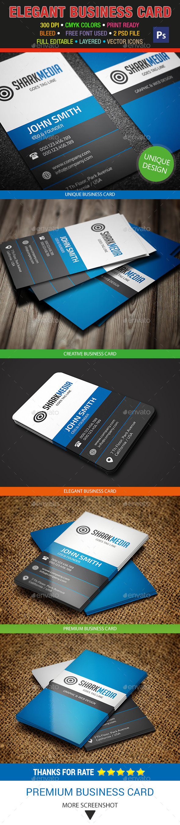GraphicRiver Elegant Business Card 318 8982400