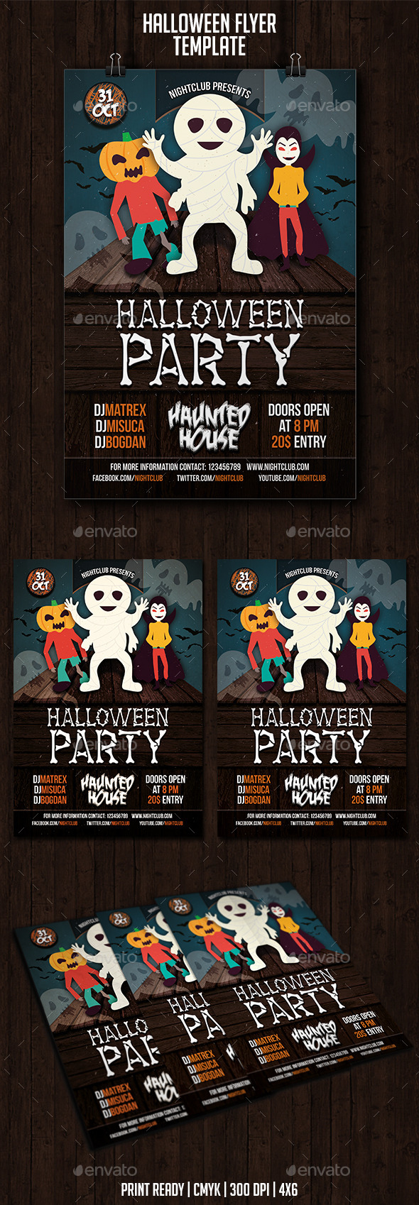 GraphicRiver Halloween Party Flyer 8954336