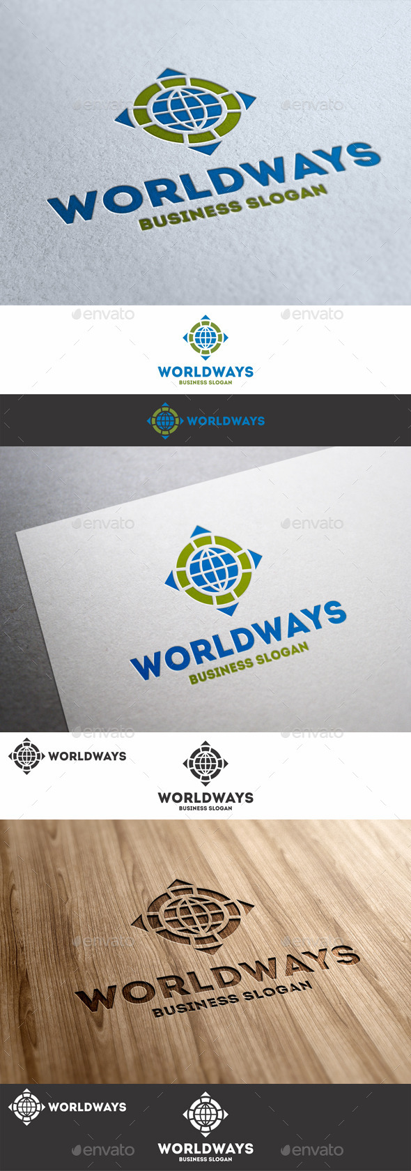 GraphicRiver World Ways Directions Logo 8982568