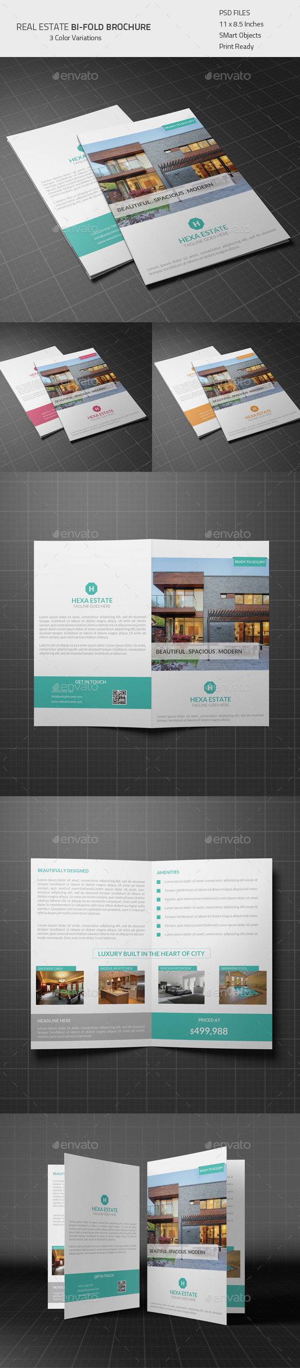 GraphicRiver Real Estate Bi-fold Brochure 8982717