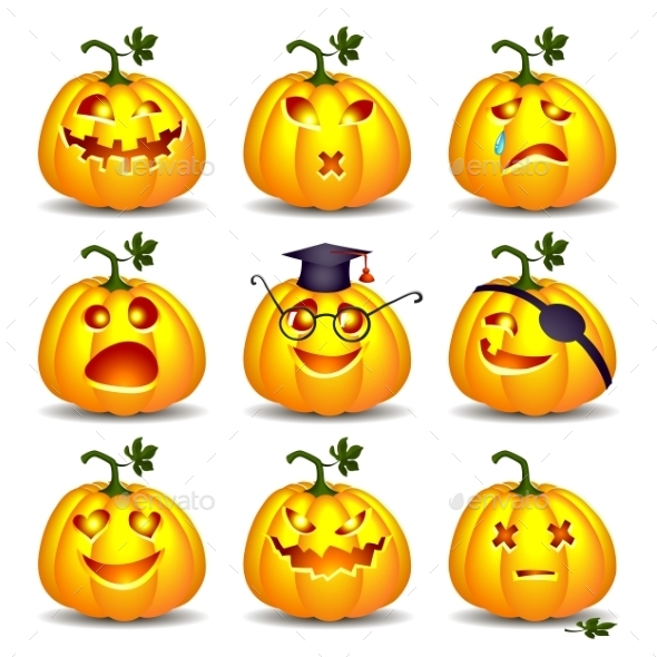 GraphicRiver Set of Pumpkins for Halloween 8982813