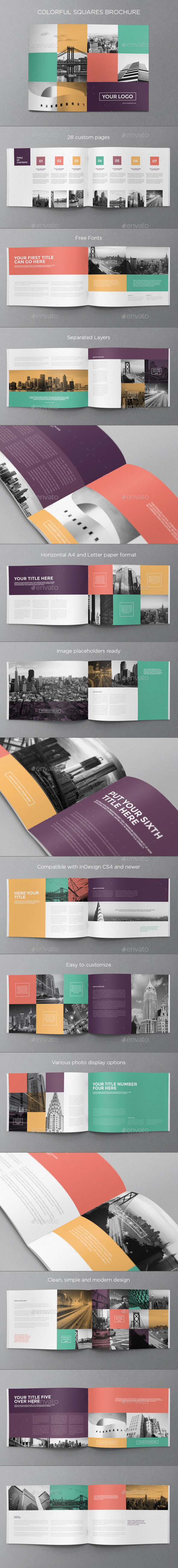 GraphicRiver Colorful Squares Brochure 8982919