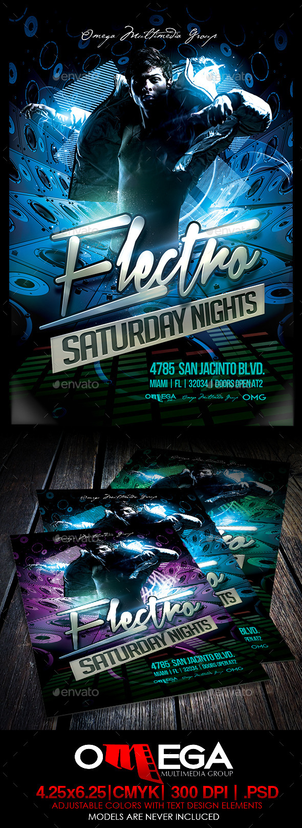 GraphicRiver Electro Saturday Nights 8962627