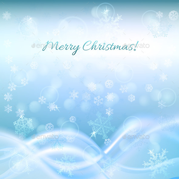 GraphicRiver Blue Christmas Background 8929520