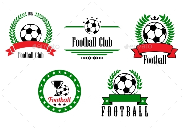GraphicRiver Football or Soccer Emblems and Badges Set 8983372