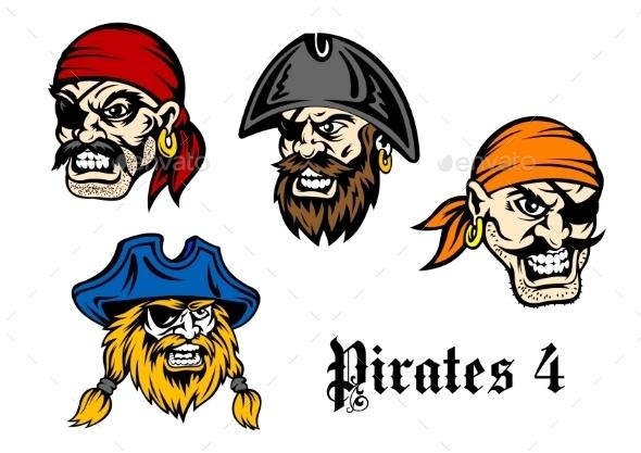 GraphicRiver Cartoon Pirates and Captains 8983376