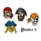 Cartoon Pirates and Captains - GraphicRiver Item for Sale
