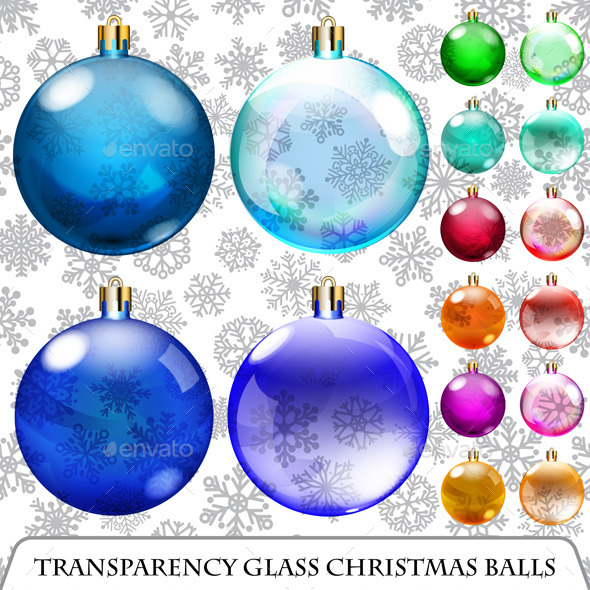 GraphicRiver Set of Transparent Christmas Balls 8983377
