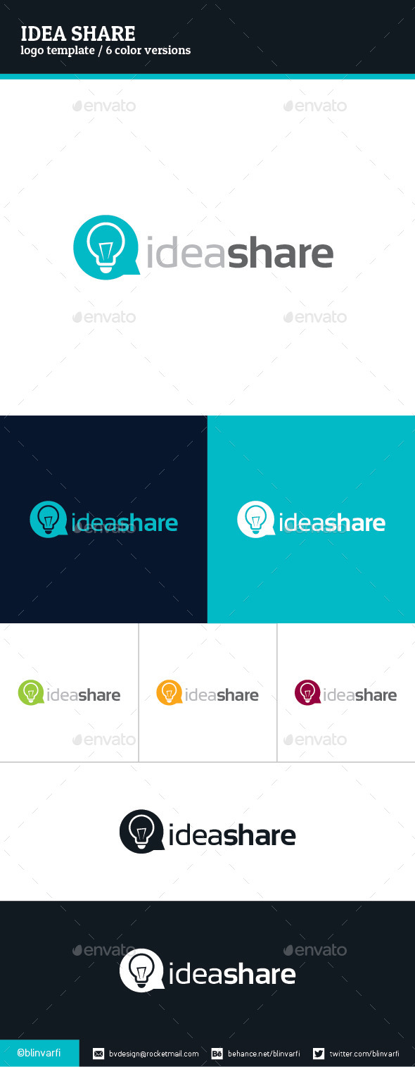 Idea Share Logo Template  - Symbols Logo Templates