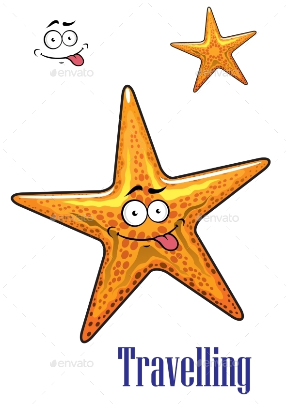 GraphicRiver Cartoon Ocean Starfish Character 8983410