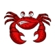 Cartoon Red Crab Character - GraphicRiver Item for Sale