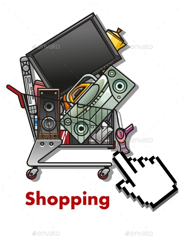 GraphicRiver Shopping Cart with Household