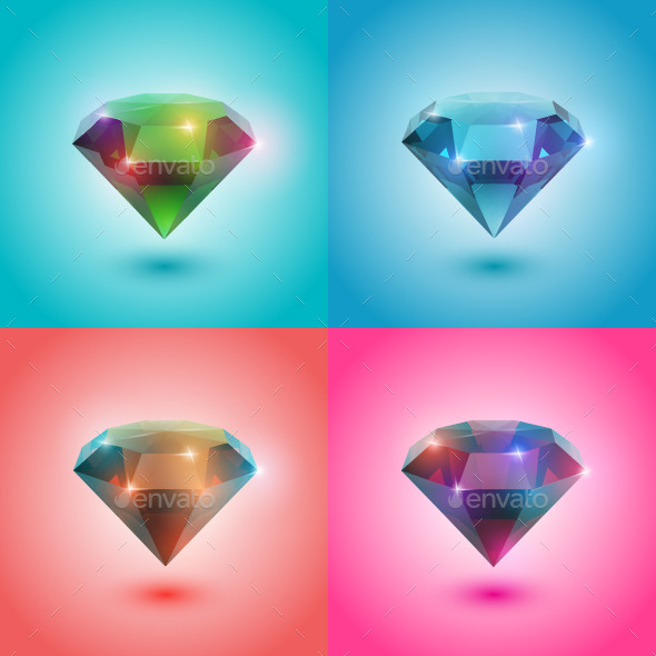 GraphicRiver Set of Gems 8983391