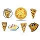 Colorful Cartoon Pizza Characters and Icons - GraphicRiver Item for Sale