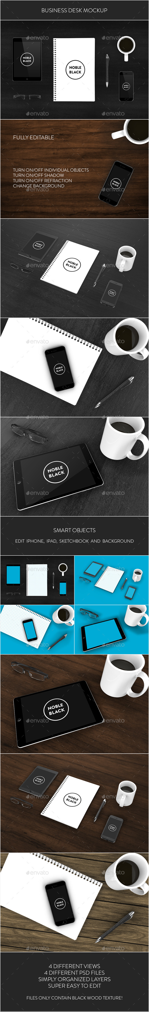 GraphicRiver Business Desk Mockup 8850590