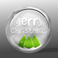 Merry Christmas round icon symbol design - PhotoDune Item for Sale