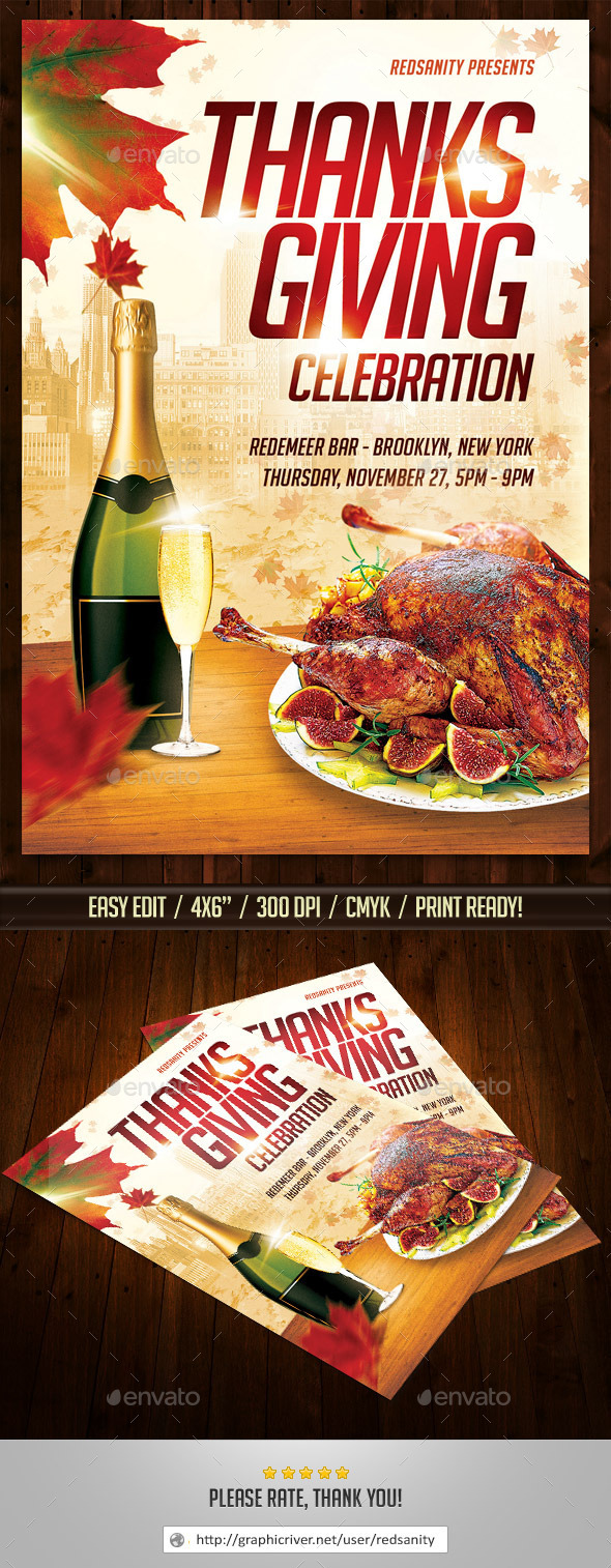 GraphicRiver Thanksgiving Flyer 8967010