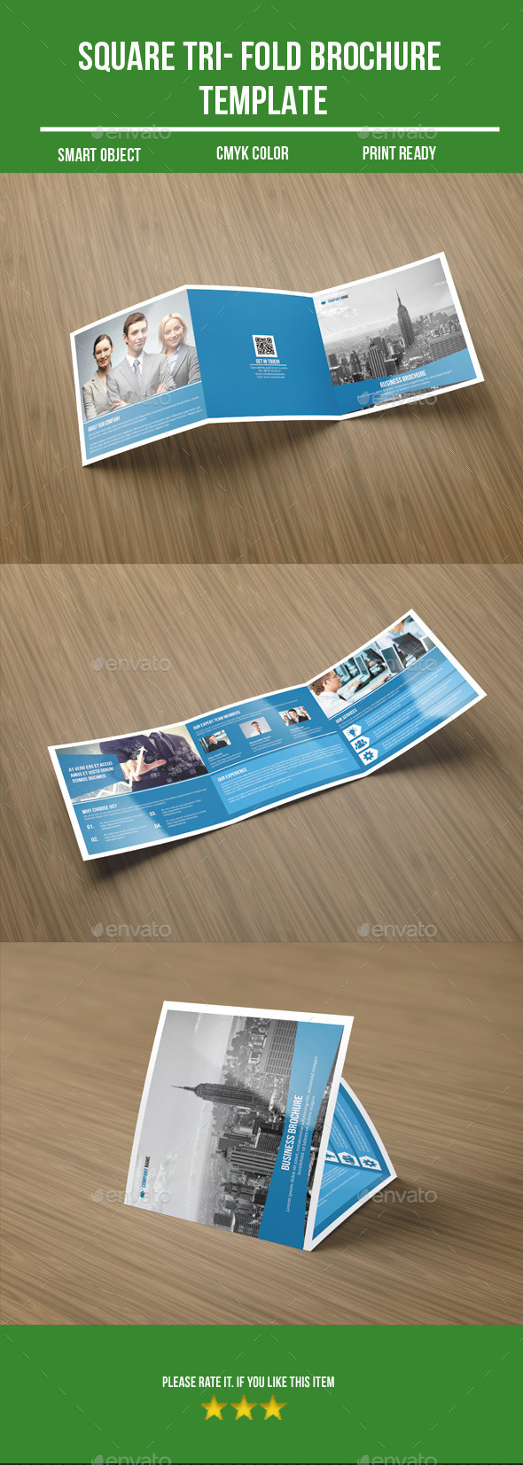 GraphicRiver square tri-fold business brochure 8983919