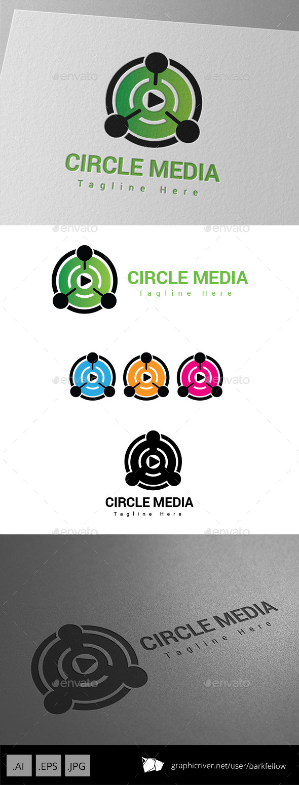 GraphicRiver Circle Media Player Logo 8983941