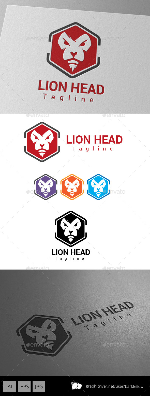 GraphicRiver Lion Head Logo 8983943