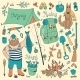 Fishing - hunting and Camping Set - GraphicRiver Item for Sale