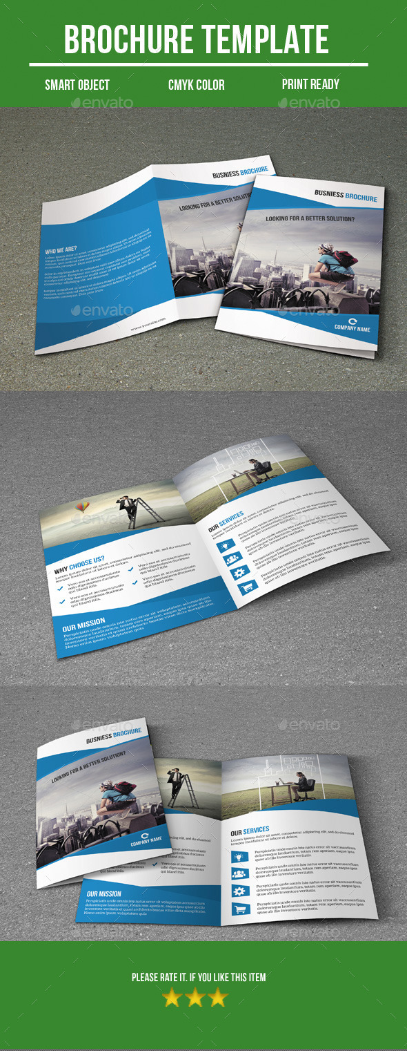 GraphicRiver Business Bi- Fold Brochure 8984387