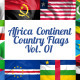 Africa Continent Country Flags Vol. 1 - VideoHive Item for Sale