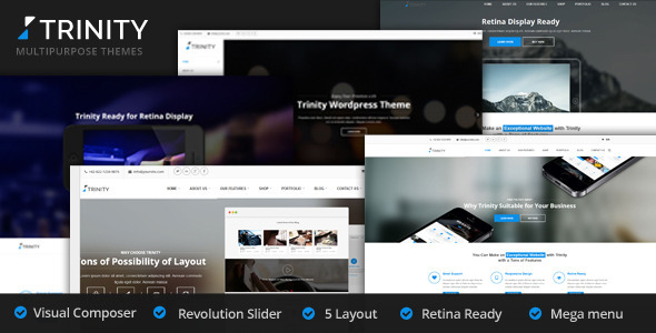 Trinity - 5 Creative Layouts Multipurpose WP Theme - Business Corporate