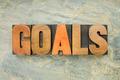 goals word in wood type - PhotoDune Item for Sale