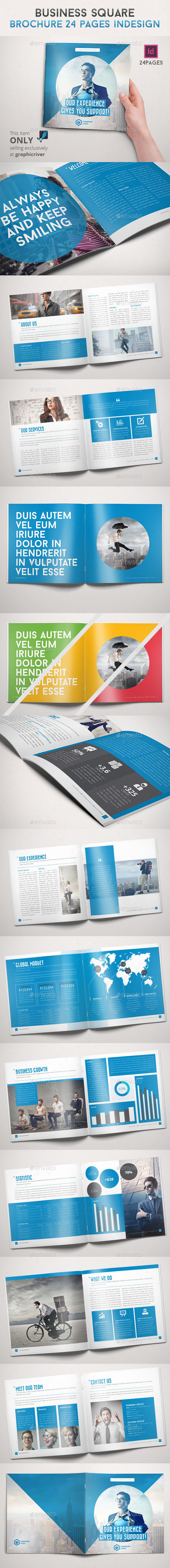 GraphicRiver Business Square Brochure 24 Pages Indesign 8984707