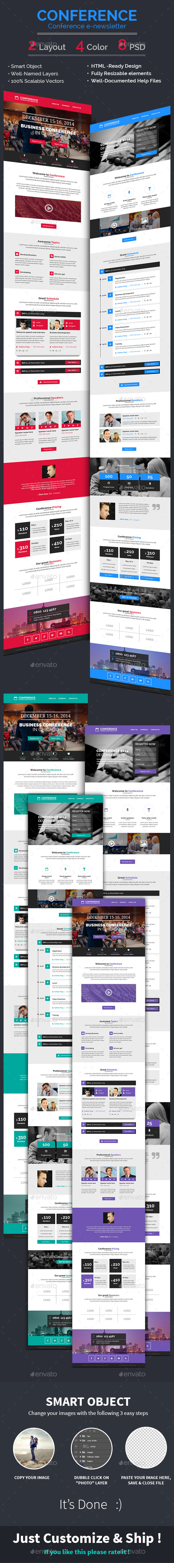 GraphicRiver Conference Event E-newsletter PSD Template 8984948