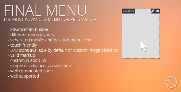Finalmenu prestashop menu