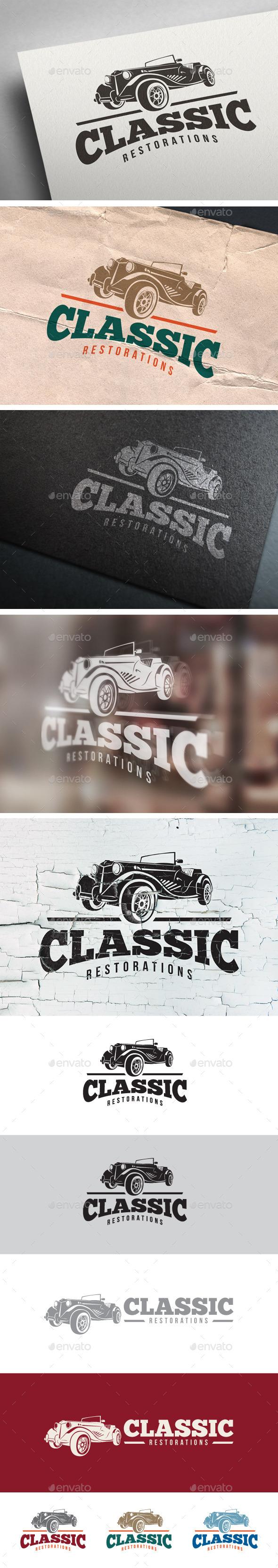 GraphicRiver Classic Car Restoration Logo 8985158