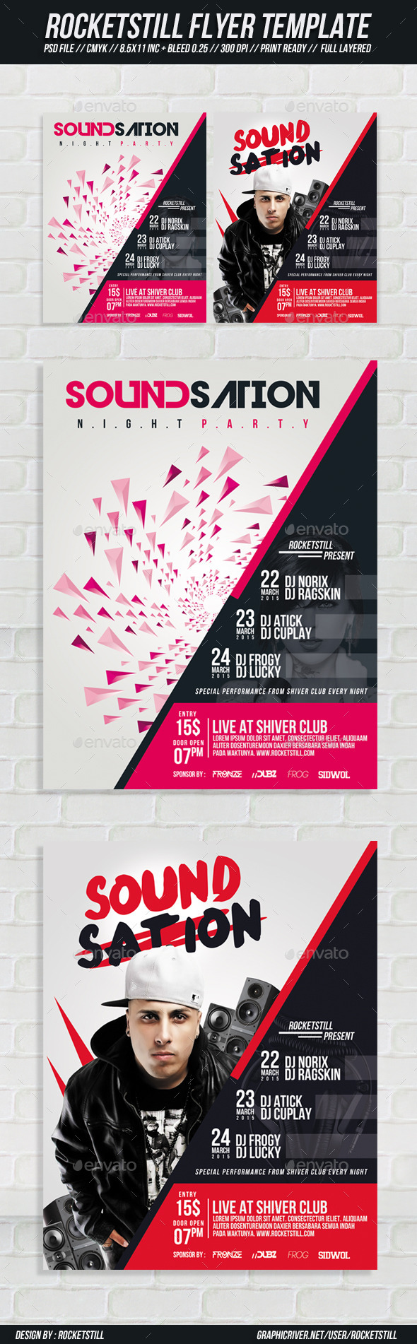 GraphicRiver Sound Sation Flyer 8985632