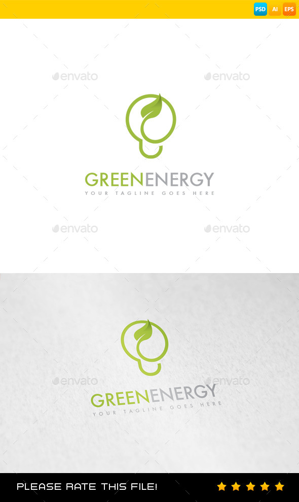 GraphicRiver Green Energy Logo 8986824